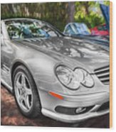 2008 Mercedes Benz Sl500 V8 Coupe Painted   Wood Print