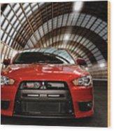 2008 Mitsubishi Lancer Evolution X Wood Print