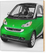 2008 Smart Fortwo City Car Wood Print