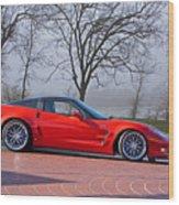 2009 Chevrolet Corvette Zr 1 Wood Print