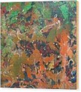 2009 Dali 100x100cm Acrylic  And Oil On Canvsa Wood Print
