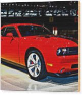 2009 Dodge Challenger Number 2 Wood Print