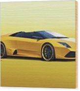 2009 Lamborghini Murcielago Roadster II Wood Print