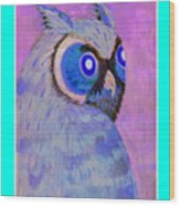 2009 Owl Negative Wood Print