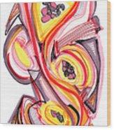 2010 Abstract Drawing Nine Wood Print