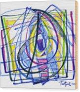 2010 Abstract Drawing Nineteen Wood Print