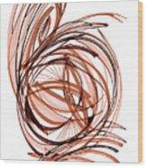2010 Abstract Drawing Six Wood Print