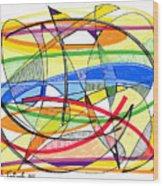 2010 Abstract Drawing Sixteen Wood Print