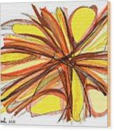 2010 Abstract Drawing Thirteen Wood Print