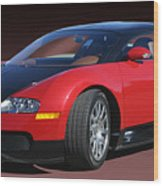 2010 Bugatti Veyron E. B. Sixteen Wood Print