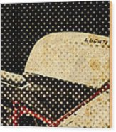 2010 Ducati 1198s Big Newspaper Dots Wood Print