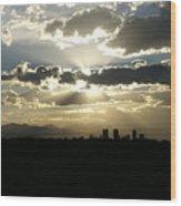 2010 June 4 Sunset Over Denver Wood Print