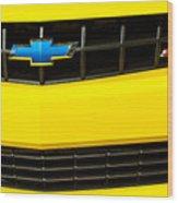 2010 Nickey Camaro Grille Emblem Wood Print