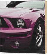 2010 Pink Ford Cobra Mustang Gt 500 Wood Print