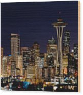 2010 Seattle Earth Hour A350 Wood Print