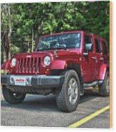 2011 Jeep Wrangler Wood Print