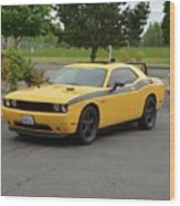 2012 Dodge Challenger Rt Clark Wood Print