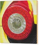 2012 Ferrari 458 Spider Brake Light Wood Print