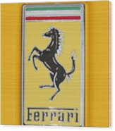2012 Ferrari Hood Emblem Wood Print