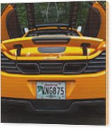 2012 Mc Laren Exhausts And Taillights Wood Print