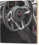 2012 Mc Laren Steering Wheel Wood Print