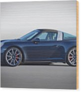 2014 Porsche 911 Targa 4s 'studio' Wood Print