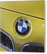 2015 Bmw M4 Hood Wood Print by Aaron Berg