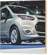 2014 Ford Transit Connect Wagon Wood Print