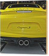 2014 Porsche Cayman S Number 2 Wood Print