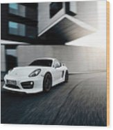2014 Techart Porsche Cayman Wood Print