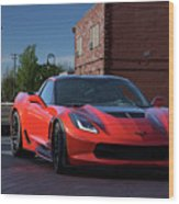 2015 Corvette Stingray  Wood Print
