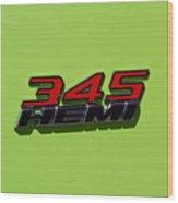 2015 Dodge Challenger R/t Wood Print