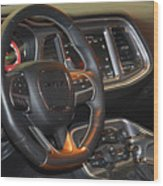 2015 Dodge Challenger Srt Hellcat Interior Wood Print
