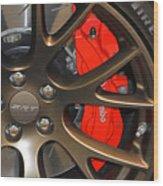2015 Dodge Challenger Srt Hellcat Wheel Wood Print