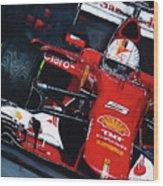 2015 F1 Ferrari Sf15-t Vettel Wood Print