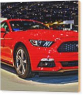 2015 Ford Mustang Coupe I4 Premium Wood Print