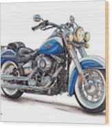 2015 Harley Softail Deluxe Wood Print