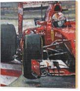 2015 Hungary Gp Ferrari Sf15t Vettel Winner Wood Print