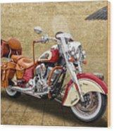2015 Indian Chief Vintage Motorcycle - 1 Wood Print