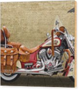 2015 Indian Chief Vintage Motorcycle - 2 Wood Print