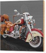 2015 Indian Chief Vintage Motorcycle - 3 Wood Print