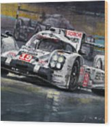 2015 Le Mans 24 Lmp1 Winner Porsche 919 Hybrid Bamber Tandy Hulkenberg Wood Print