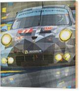 2015 Le Mans Gte-am Porsche 911 Rsr Wood Print