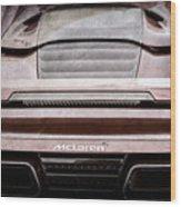 2015 Mclaren 650s Spider Rear Emblem -0011ac Wood Print