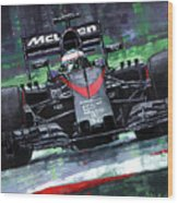 2015 Mclaren Honda F1 Austrian Gp Alonso  Wood Print