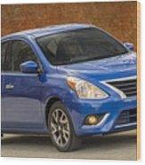 2015 Nissan Versa Sedan Wood Print