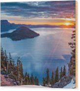 2015 Spring Sunrise From Discovery Point Wood Print