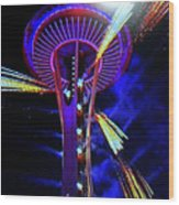 2016 At The Space Needle Wood Print
