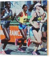 2016 Boston Marathon Winner 2 Wood Print