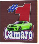 2016 Camaro Wood Print